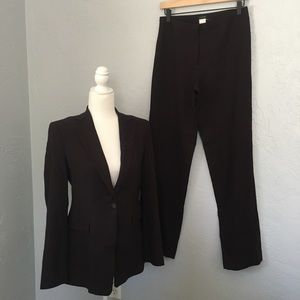 J. Crew Brown Wool Suit Size 4 Pants and Blazer